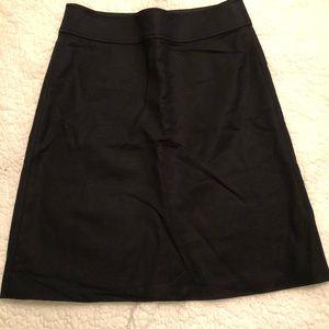 Banana Republic Black stretch petite pencil skirt
